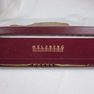 14K Gold Helzberg Diamonds Garnet Bracelet